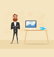 businessman crossed his arms with business vector image