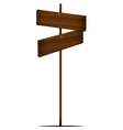 A post with two empty boards vector image vector image