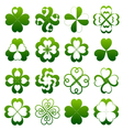 Abstract clover symbol set vector image