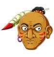 apache head cartoon vector image