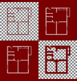 apartment house floor plans bordo and vector image vector image