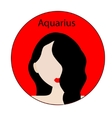 Aquarius zodiac sign vector image vector image