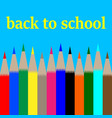 back to schoolcard with multi-colored pencils vector image vector image