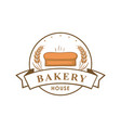 bakery shop logo sign template emblem vector image