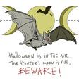 Bat poster vector image vector image