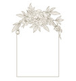 beautiful frame with peonies vector image vector image