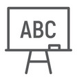 Blackboard line icon school and education