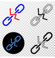 break chain eps icon with contour version vector image