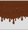 brown sticky liquid seamless element vector image vector image