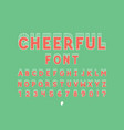 cheerful bold font alphabet vector image vector image
