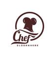 chef hat logo template chef emblem design food vector image vector image
