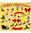 Christmas icons for celebratory design vector image vector image