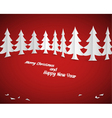 christmas paper trees vector image vector image