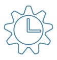 clock gear icon business time concept vector image vector image