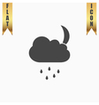 Cloud rainy month icon sign and button vector image vector image