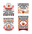 coffee quote and saying set bundle best for print vector image vector image