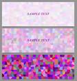 Colored tiled rectangle pattern banner design set vector image vector image