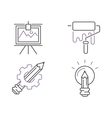 Creative idea sign icons idea icon concept line vector image