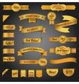 Discount retro ribbon golden set vector image vector image