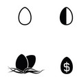 egg icon set vector image vector image