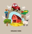 farm cartoon composition vector image vector image
