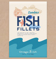 fish fillets abstract fish packaging vector image