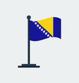 flag of bosniaflag stand vector image