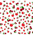 fruits pattern seamless background vector image vector image