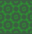 green floral pattern isolated on green background vector image
