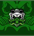 green toxic panda vector image vector image