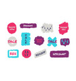 grunge sale badge discount labels collection of vector image vector image