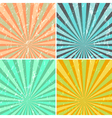grunge sunburst background vector image