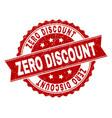 grunge textured zero discount stamp seal vector image