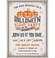 Halloween Night Party Invitation vector image