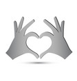 hands forming a heart vector image vector image