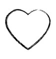 heart drawing love valentine celebration passion vector image vector image