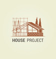 house project concept design real estate icon vector image
