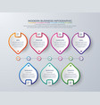 infographic design with 8 process or steps vector image vector image