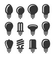 light bulbs icons set on white background vector image vector image