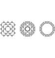mandala frame vector image vector image