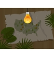 map jungle bulb night america dark vector image vector image