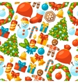 Merry Christmas holiday seamless pattern with vector image vector image