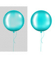 mint balloons vector image