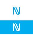 modern letter nv logo image vector image vector image