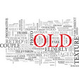 old word cloud concept vector image vector image