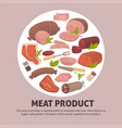 organic delicious raw fresh meat product vector image vector image