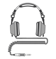 Outline Big Headphones vector image vector image