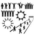people community welfare stick figure pictograph vector image vector image