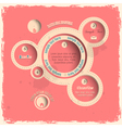 Pink web design bubbles in vintage style vector image