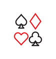 poker icon graphic design template vector image